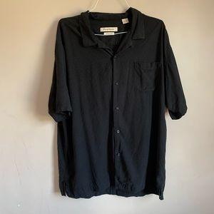 Mens size XXL Black Silk Tommy Bahama Shirt EUC
